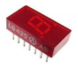 LQ425 zobrazovač červený ,7 segmentový se spol. anodou
