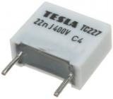 22n/400V TC227, svitkový kondenzátor radiální, RM=10mm