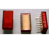 LQ325 zobrazovač +-1., červený, TESLA