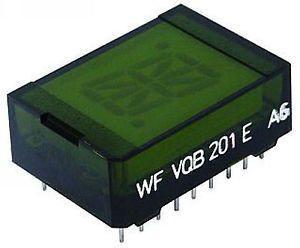 VQB201D zobrazovač 16.segment, zelený, RFT