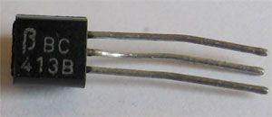 BC413B N UNI 45V/0,1A 0,3W (ß=240-500)