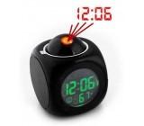 Digitální hodiny s projekcí + budíkem a teploměrem