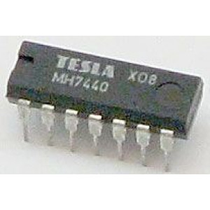 7440 2x 4vstup. NAND, DIL14 /MH7440, MH7440S, MH5440, MH5440S,84S40S/