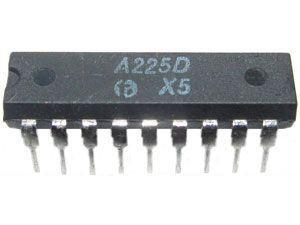 A225D - mf zesilovač+demodulátor, DIL18