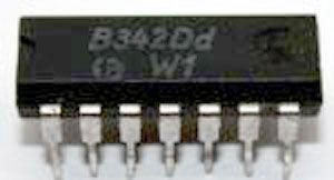 B342D - tranzistorové pole - 4x tranzistor NPN, DIL14