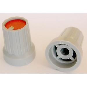 Přístrojový knoflík KP15, 15x18mm, hřídel 4mm, červený