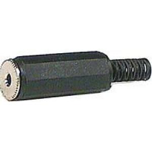 JACK zdířka 2,5 mono na kabel plast černá