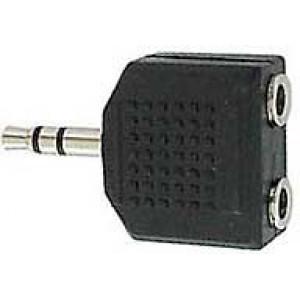 Redukce JACK 3,5 stereo konekt./ 2x JACK 3,5 stereo zdířka