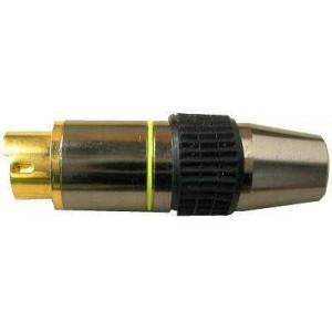 MINIDIN konektor 4 pin kovový, zlacený /S-VHS/