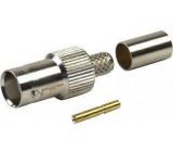 BNC zdířka lisovací, kabel 6mm, (RG59)