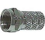 F konektor na koax 6mm šroubovací