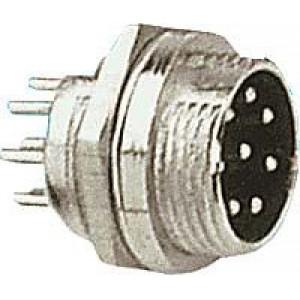 MIC konektor se závitem 8p panelový