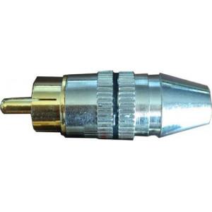 CINCH konektor kov.nikl.pro kabel 5mm,černý proužek