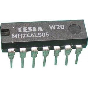 74ALS05 , 6x invertor s otevřeným kolektorem, DIL14, /MH74ALS05/