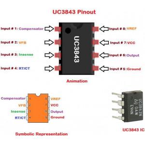 UC3843B PVVM pro spínaný zdroj 500kHz DIL8
