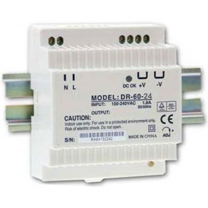 Průmyslový zdroj DR-60-24, 24V=/60W, spínaný na DIN lištu
