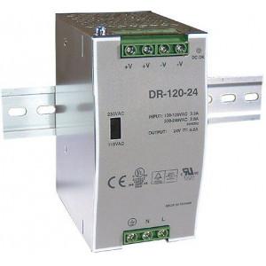 Průmyslový zdroj DR-120-24, 24V=/120W spínaný na DIN lištu