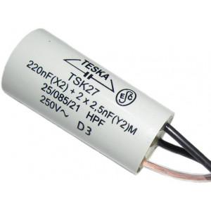 Odrušovací filtr TSK27 220n+2x2n2 250VAC/6A 3vývody