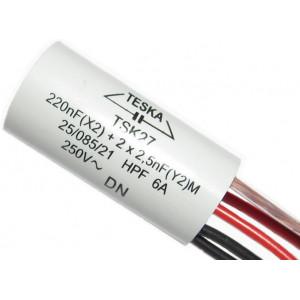 Odrušovací filtr TSK27 220n+2x2n2 250VAC/6A 5vývod