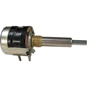 47k/G hřídel 8+4mm, potenciometr otočný dvojitý