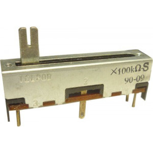 Potenciometr tahový TELPOD 100k/S(lin)45x12x10mm