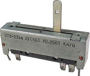 Potenciometr tahový ruský 470R/N 50x12x16mm