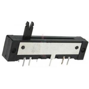 Potenciometr tahový TP645 220R/F(4odb.)+470k/N
