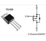 IRF9630 P MOSFET 200V/6,5A 74W 0,8Ohm TO220