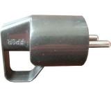Vidlice 230V/16A s ouškem,černá