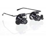 Zvětšovací brýle - binokulární lupa se zvětšením 20x a osvětlením