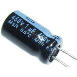 1u/450V 85°C 8x12x3,5mm, elektrolyt.kondenzátor radiální