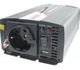 Měnič napětí 12V/230V 300W JYINS JYP-300, zásuvka EURO, čistá sinus.