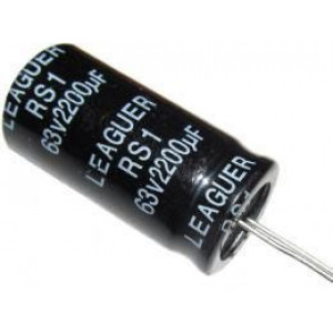 2200u/63V 105° 18x36x7,5mm, elektrolyt.kondenzátor radiální