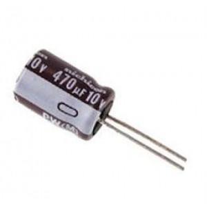 470u/10V 105° 6x11x2,5mm, elektrolyt.kondenzátor radiální