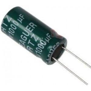 1000u/10V elektrolyt.kond.radiál.105st.8x14x5