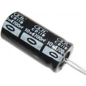 4700u/10V 85° 16x25x7,5mm, elektrolyt.kondenzátor radiální