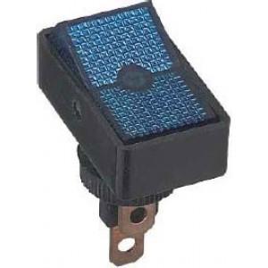 Vypínač kolébkový ON-OFF 1pol.12V/20A,modrý
