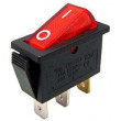 Vypínač kolébkový OFF-ON 1pol.250V/15A červený, prosvtlení 230V