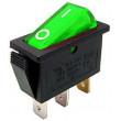 Vypínač kolébkový OFF-ON 1pol.250V/15A zelený