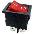 Vypínač kolébkový MIRS-201A-C3, OFF-ON 2p.250V/6A červený,prosvětlený