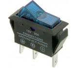 Vypínač kolébkový OFF-ON 1pol.12V/20A modrý