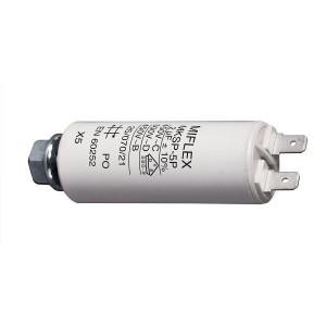 2uF/450V motorový kondenzátor MKSP-5P s fastony, 25x58mm
