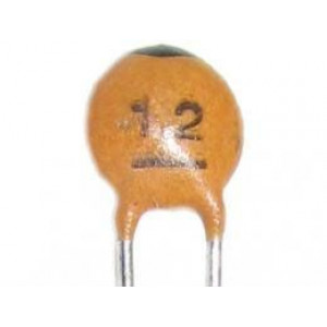 12pF/50V RM=2,54, keramický kondenzátor