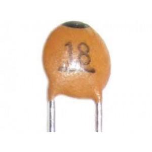 18pF/50V SUNTAN,RM=2,54, keramický kondenzátor