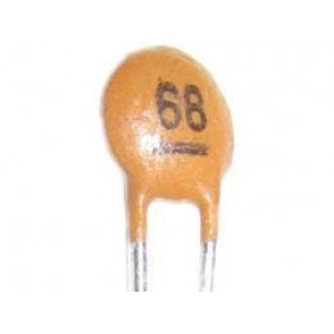 68pF/50V SUNTAN,RM=2,54, keramický kondenátor