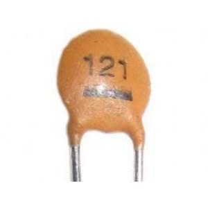 120pF/50V SUNTAN,RM=2,54, keramický kondenzátor
