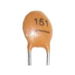150pF/50V SUNTAN,RM=2,54, keramický kondenzátor