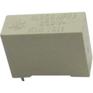 56n/250V Iskra, svitkový kondenzátor radiální, RM=15mm