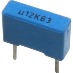 120n/63V TC352, svitkový kondenzátor radiální, RM=7,5mm