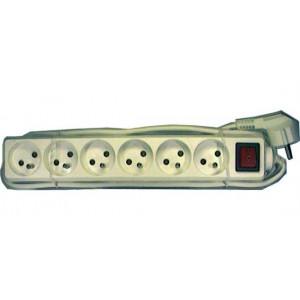 Prodlužovací přívod 10m-6x10A+vypínač, 3x1mm2